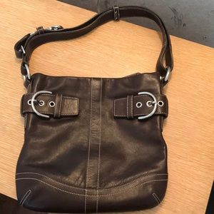 Beautiful leather Coach handbag!!